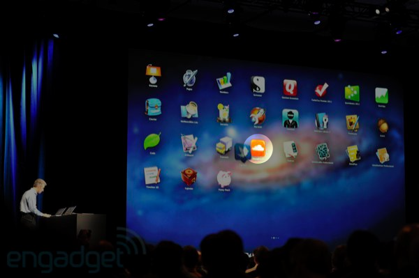 SoundCloud app on the Keynote